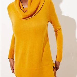 Luxe knit cow neck tunic sweater